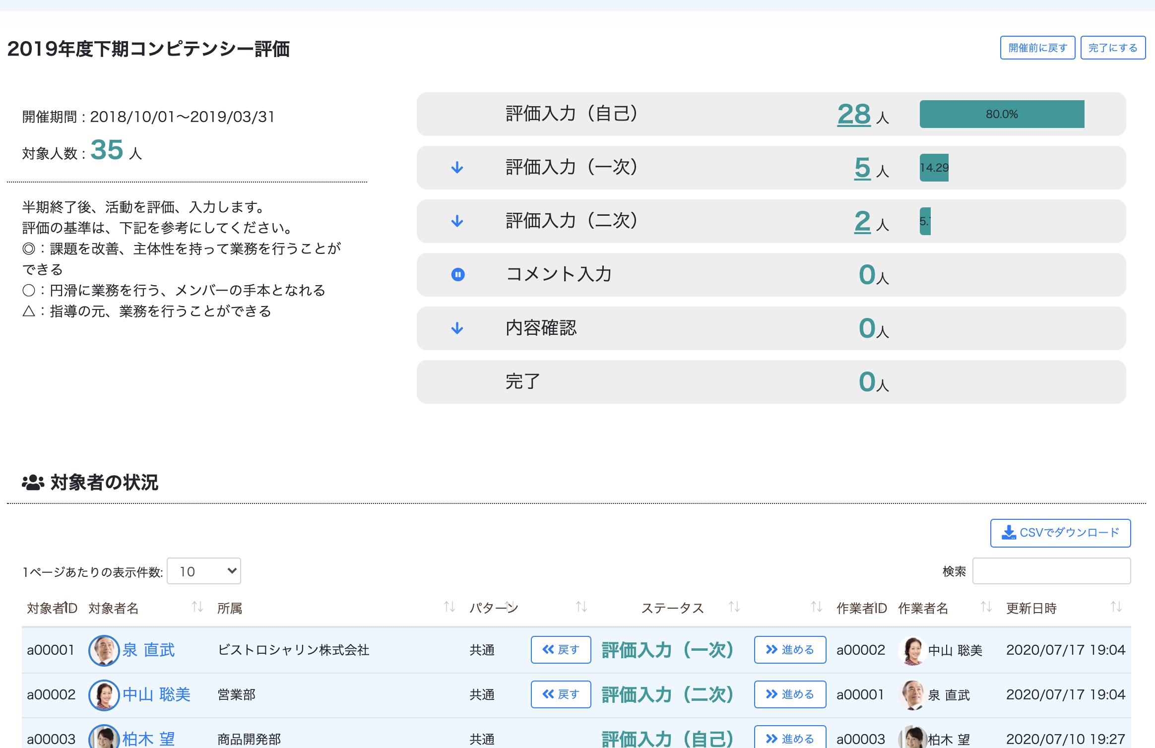 シナジーHR 評価ツール 個評価制度をラクラク運用